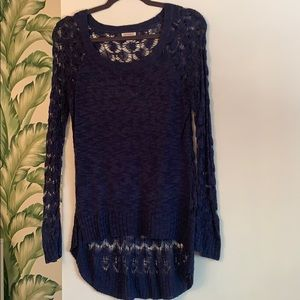 Navy Blue netted sweater